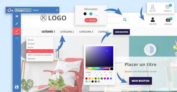 Nouveauté NewOxatis : le Design Editor dans votre Back Office !
