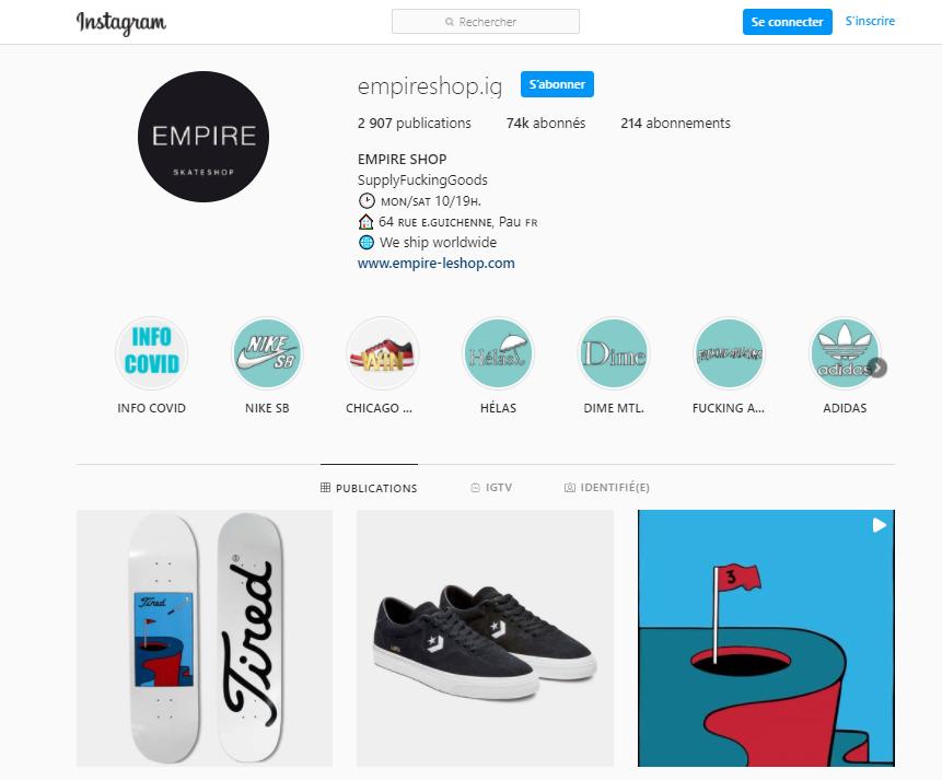 empire le shop instagram