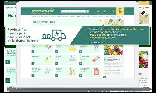 Greenweez livraison produit frais