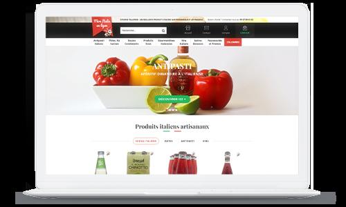 Mon Italie en ligne reference client New Oxatis
